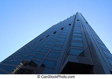 City Skyscraper against Blue Sky
