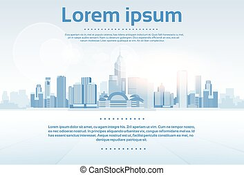 City Skyscraper View Cityscape Background Skyline with Copy Space