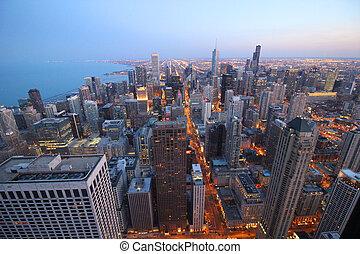 City skyscraper view