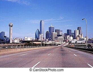 City skyscrapers, Dallas, USA. - View of the city ...