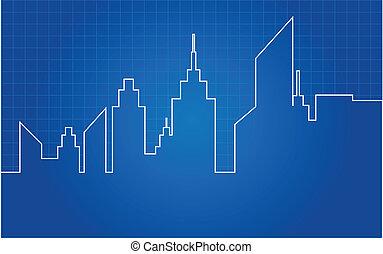 City Skyscrapers Skyline