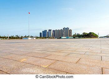 City Square at dusk landscape, Nanchang, China.
