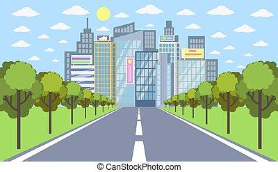 city., strada