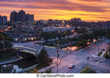 City Street at Sunrise