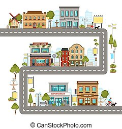 City Street Illustration