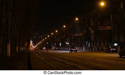 City Street Night Traffic