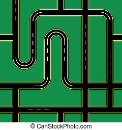 City Roads Seamless Pattern Texture Background