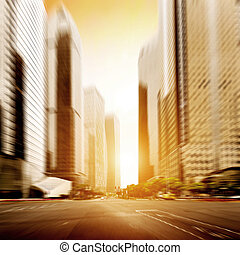 City streets - The city's streets and car