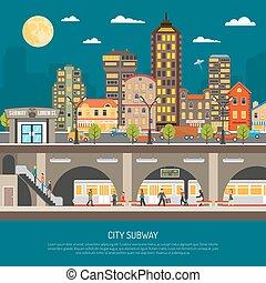 City Subway Poster