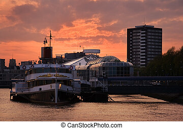City sunset Rotterdam