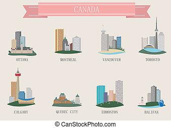 City symbol. Canada. Vector set for you design