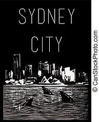 City Tee graphic design sydney city