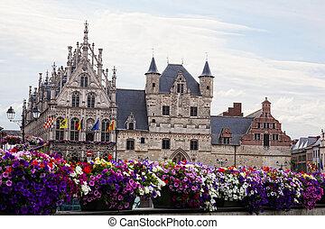 City town hall in Mechelen (Malines), Belgium