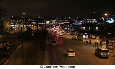 city traffic at istanbul