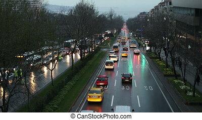 city traffic at istanbul turkey