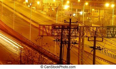city traffic at night,highway