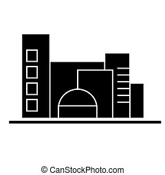 city, traffic cars  icon, vector illustration, sign on isolated background