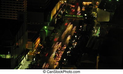 City traffic time lapse zoom 3 - Bangkok traffic time lapse...