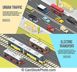 City Transport Banners Set