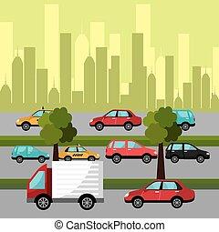 City transport design.