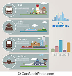 City. Transport. Vector for you design