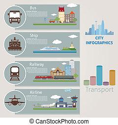 City. Transport. Vector for you design