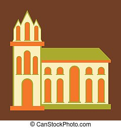 City travel landmark. icon with flat design elements. Modern linear style illustrations isolated .