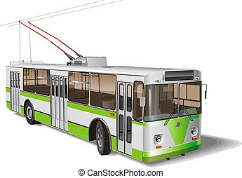 City trolleybus. Available EPS-10 vector format separated by...