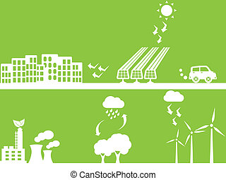 City using renewable energy sources