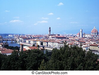 City view, Florence, Italy.