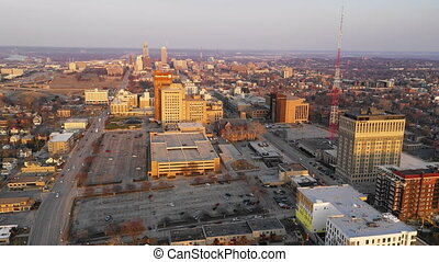 City View Hilltop Omaha Nebraska Downtown Urban Skyline -...