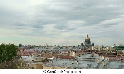 City view in Saint-Petersburg - City view on centre of...