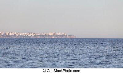 city view of Antalya, Turkey - city harbor of Antalya Turkey