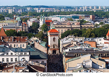 City view of Krakow, day photo
