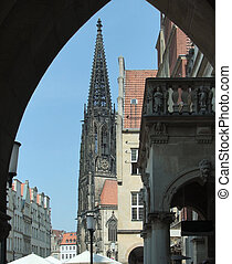 city view of Muenster, a city in North Rhine-Westphalia (Germany)