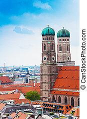City view of Munich, Frauenkirche, Germany