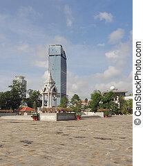 Phnom Penh - city view of Phnom Penh, the capital and...