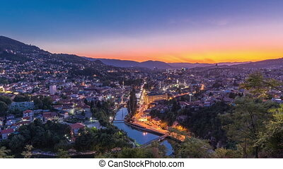 City view of Sarajevo from most popular panoramic spot in ...