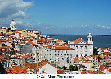 City view of the Capital of Portugal, Lisbon - beautiful...
