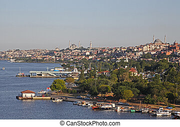 City view on the golden horn, Istanbul, Turkey