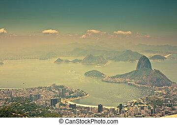city views from Corcovado Rio De Janeiro Brazil - views Rio ...