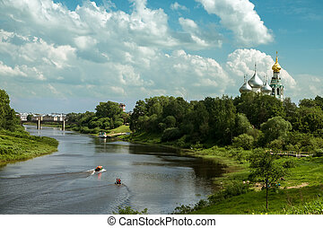 View of the Church in the city of Vologda