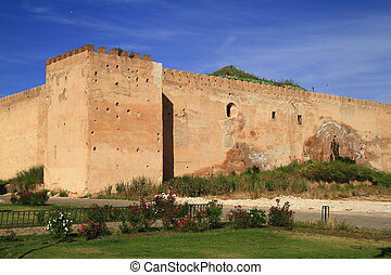 City wall in Meknes, Morocco
