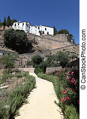 City wall in Ronda, Andalusia Spain