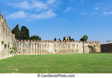 City walls of Pisa - The Medieval City Walls of Pisa, Italy