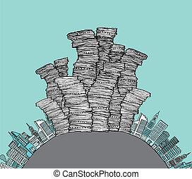 City waste / Garbage skyline