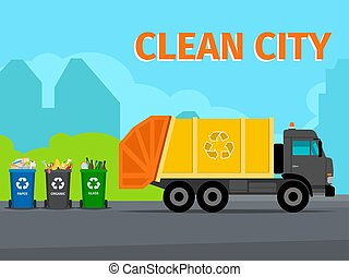 City waste recycling concept