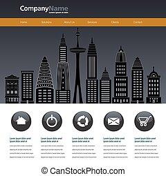 City web site design template