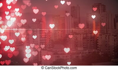 City with hearts
