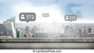 City with increasing followers 4k